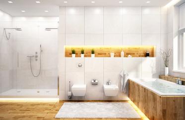 La mode de la douche à l'italienne en marbre